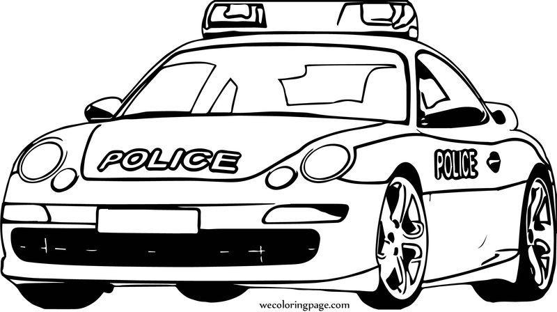 Porsche Police Car Coloring Page