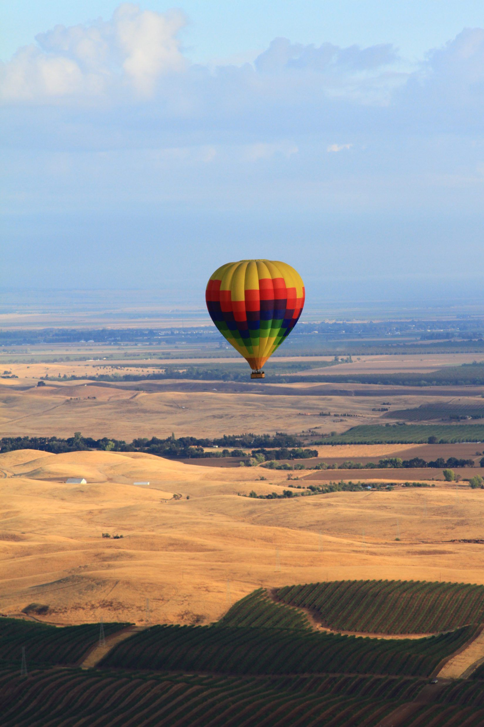 A Hot Air Balloon Ride, Train, Tuscan Castle, and WINE