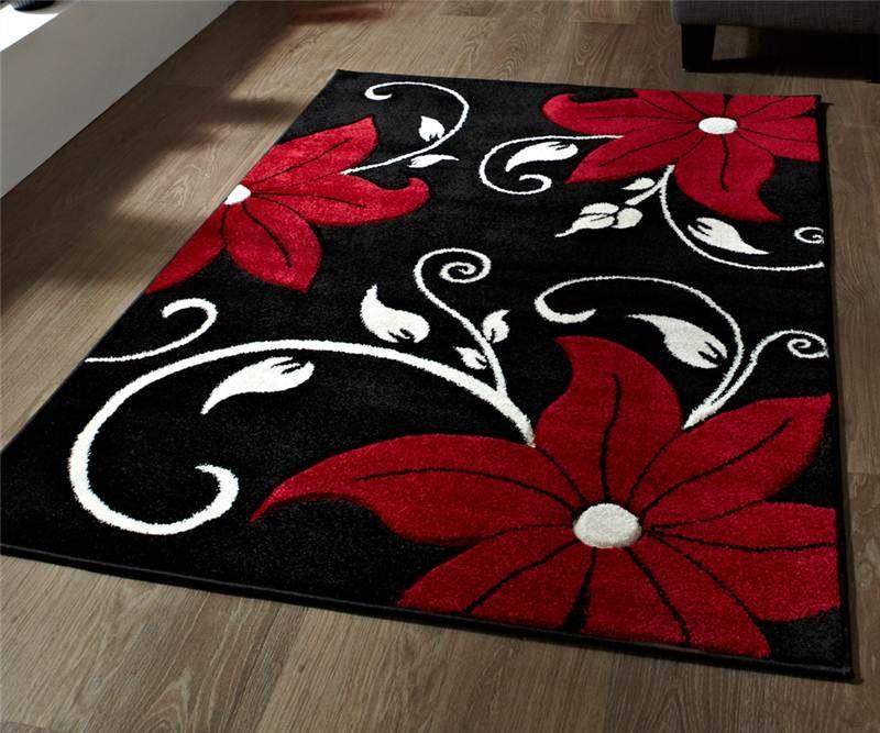 Red And Black Carpet Rugs Vidalondon