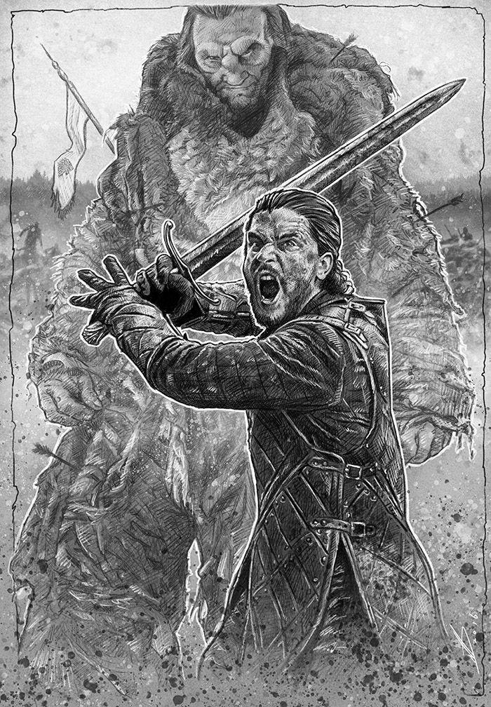 Jon Snow And The Giant Gameofthrones Got Desenhos Desenhos