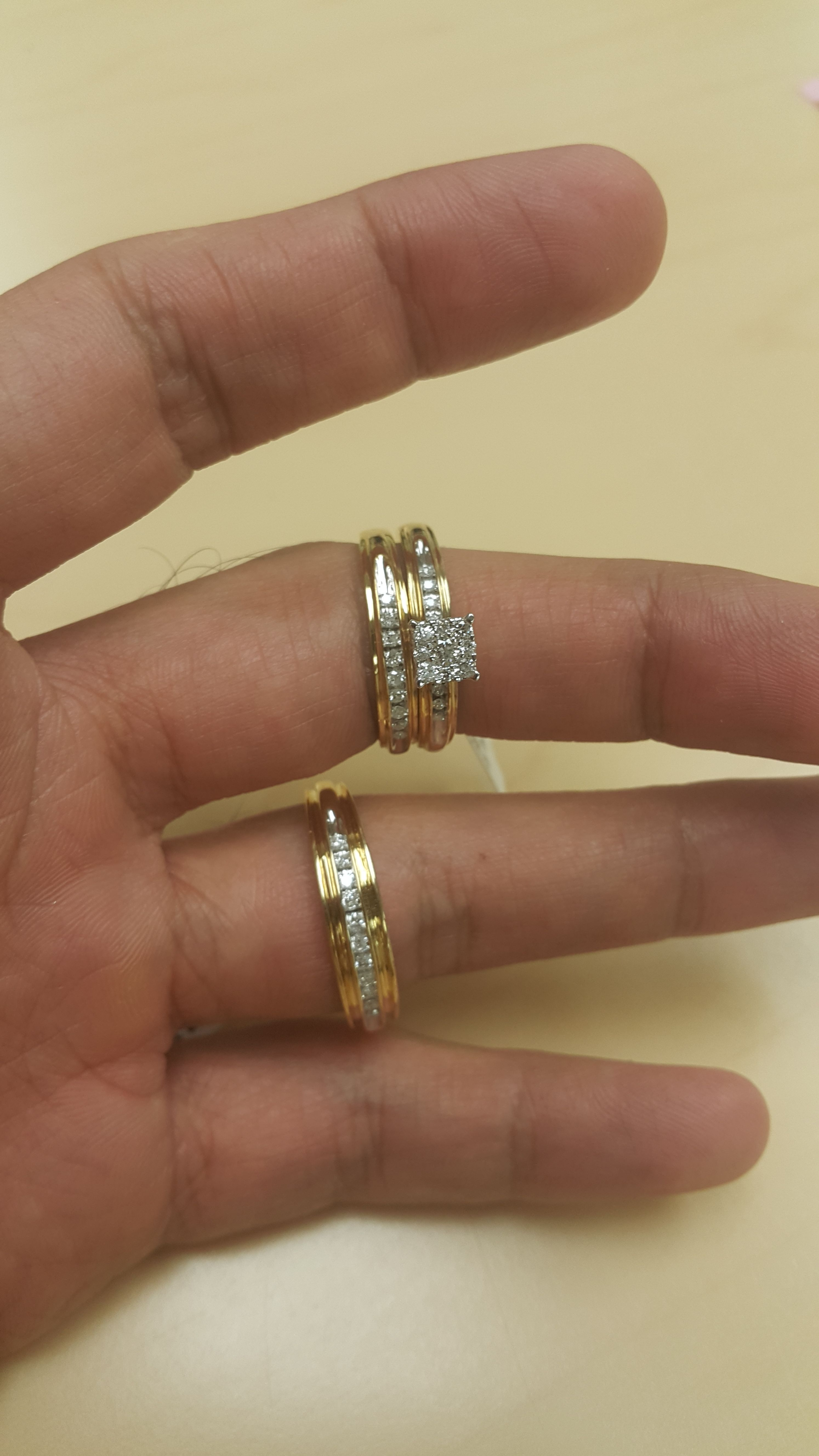 Rings On Hand Trio Ring Set Bt513y Engagement Ring Ladies