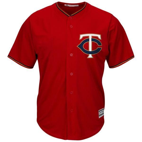 db06d1dc Minnesota Twins Cool Base MLB Custom Scarlet Jersey   Products ...