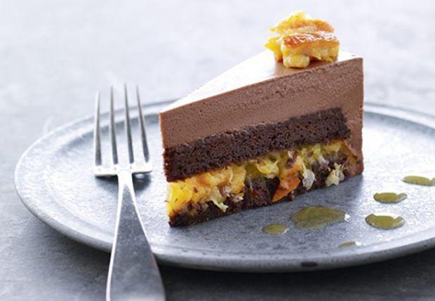 Chokoladekage.