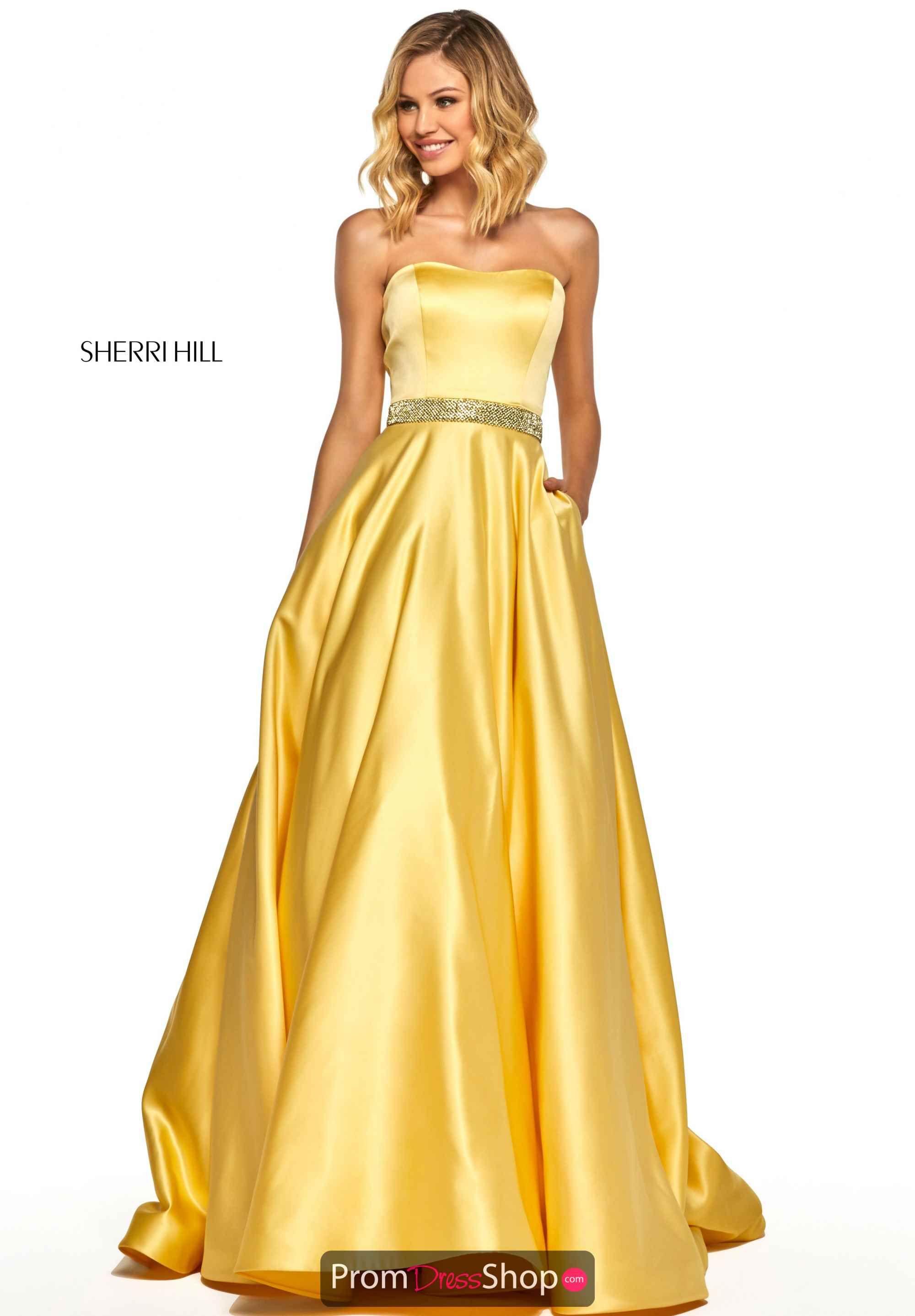 1c610bb1d29 Sherri Hill Strapless A Line Dress 52776 in 2019