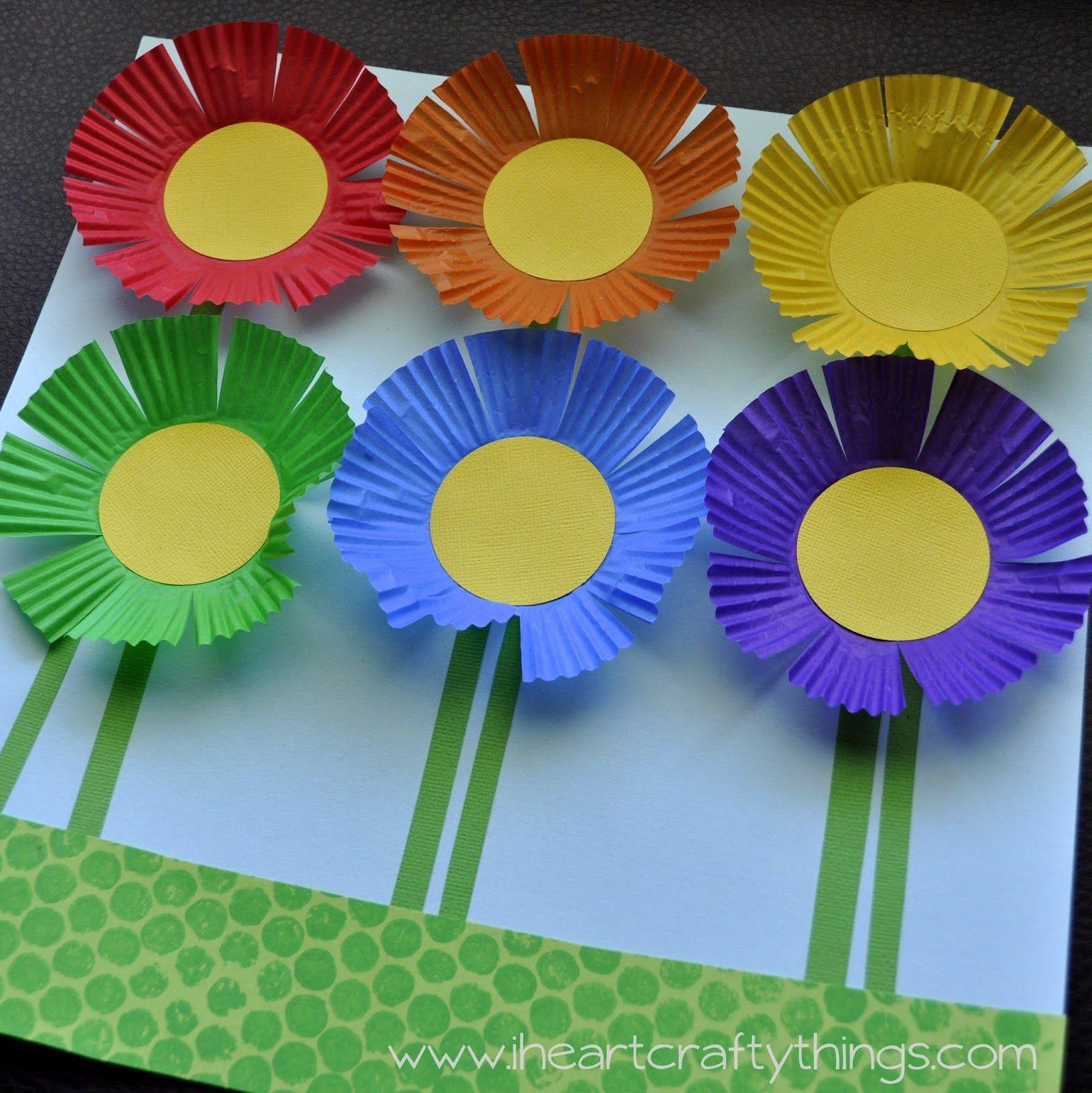 Planting A Rainbow Flower Craft Flower Crafts Kids Paper