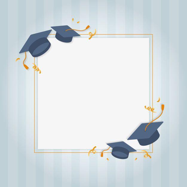 Photo of Graduation greeting card Free Vector
