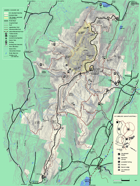 Mt Greylock State Reservation summer trail map Another marvelous