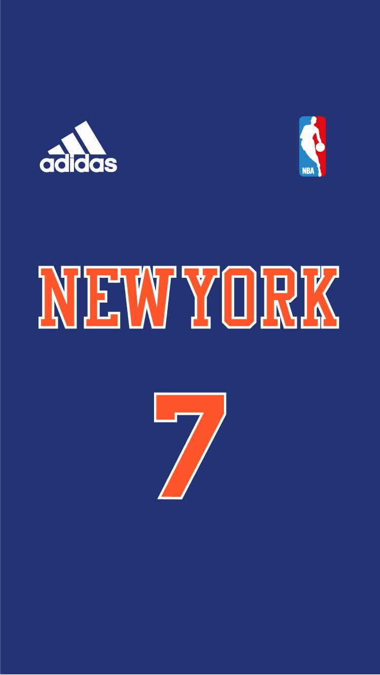 KNICKS NBA Jersey Project iPhone 6 Pinterest NBA and Sports