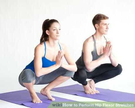 perform hip flexor stretches  hip flexor exercises yoga