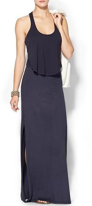 Monrow Double Crop Maxi Dress