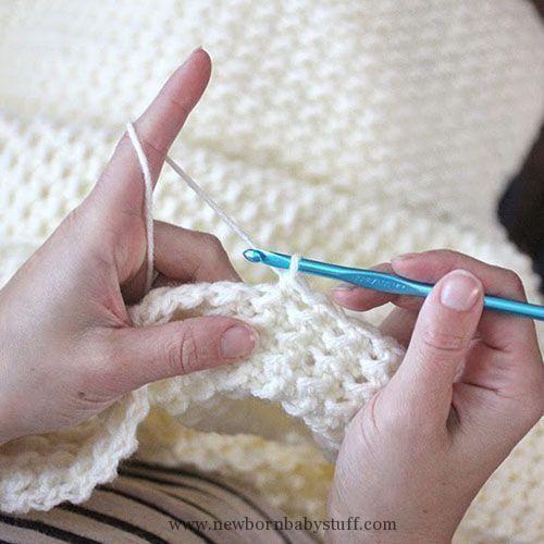 Crochet Baby Booties Crochet Even Moss Stitch Blanket | Crochet Baby ...