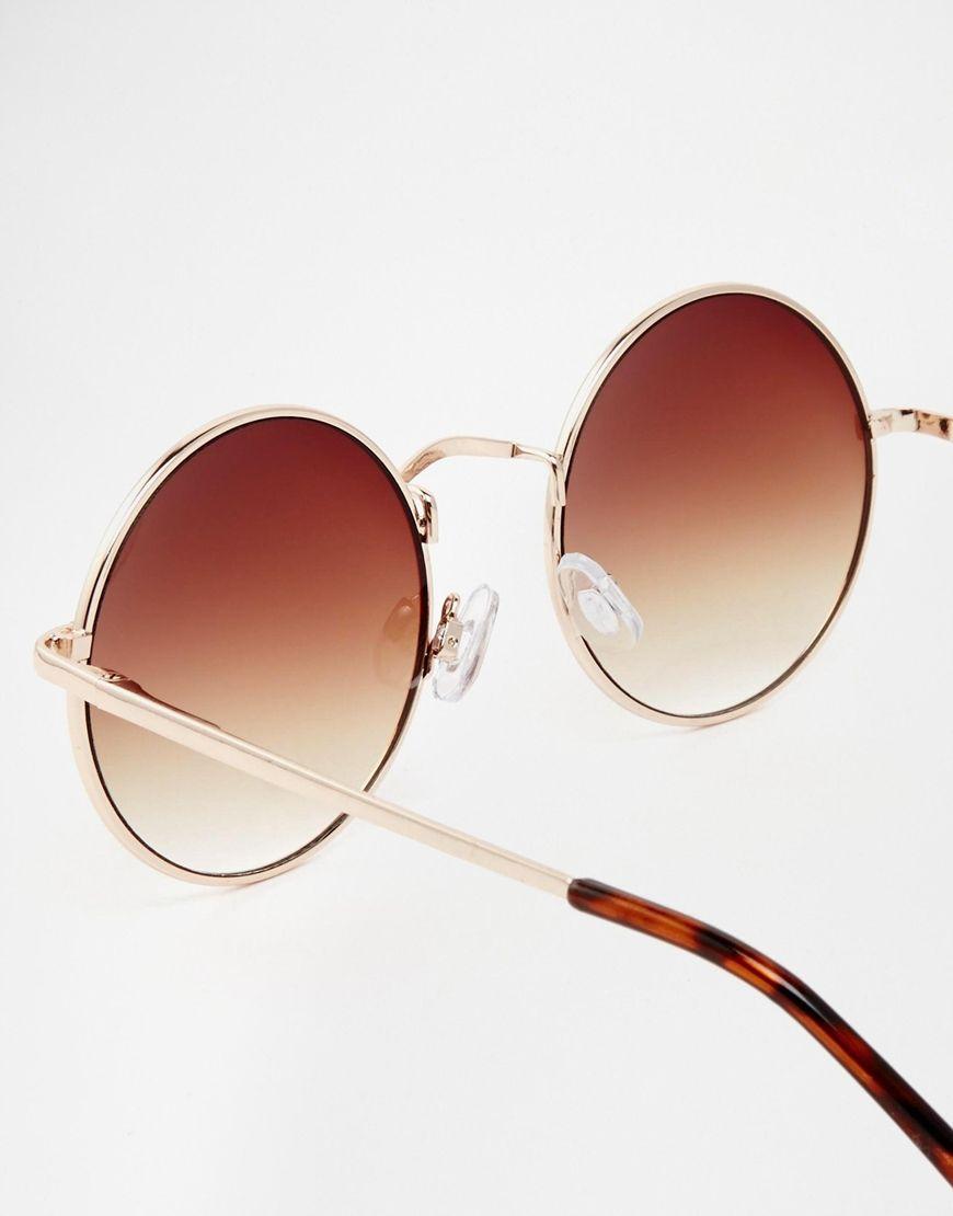 petites lunettes de soleil rondes en m tal accessories. Black Bedroom Furniture Sets. Home Design Ideas