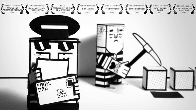 The story exists in its basic features since the fable «The father and his sons» by Aesop (600 B.C.) and is told to this day in anecdotes and urban myths. In «From Dad To Son» we translated a written narrative into a paper crafted animation short.  «From Dad To Son» has been screened in 2012-13 at more than 130 film festivals and received 12 ...