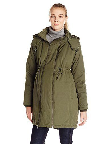 265404ad625df JoJo Maman Bebe Women's Maternity 2-In1 Padded Parka with Removable Panel