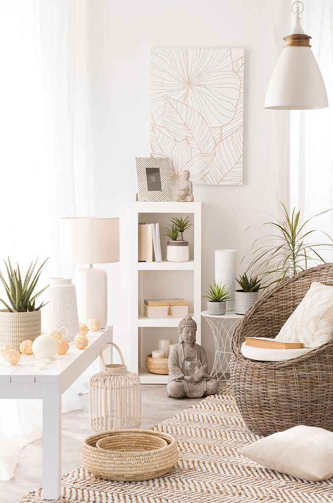 Tendencia urban jungle estilo zen maisons du monde decoraci n sal n living room deco - Budas decoracion ...