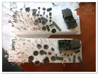 modelismo de peazo-gato: Jeep SAS , (Sidi Ennich 26/07/42) ,6º pinturas base
