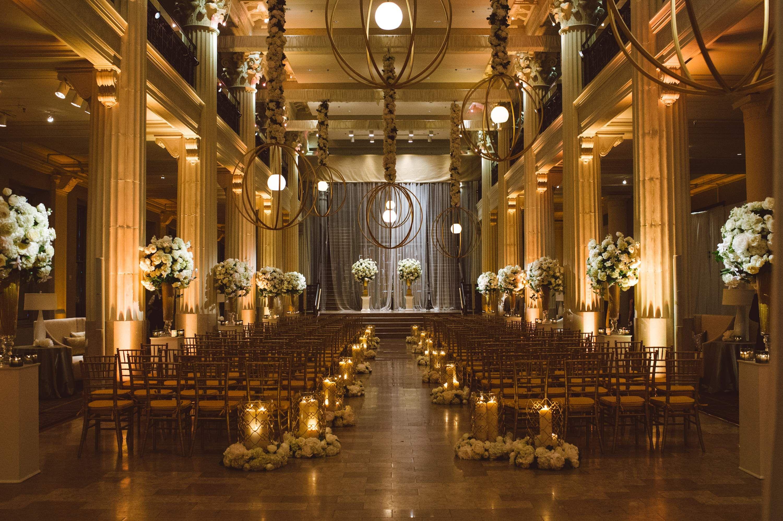 Indoor Ceremony Inspirations: NFL Tight End Owen Daniels' Houston Wedding