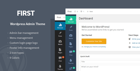 Download First - WordPress Admin Theme Plugin my wordpress p