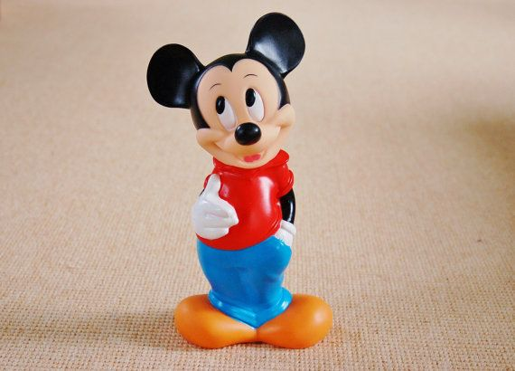 Mickey Mouse Bank Plastic Vinyl Mickey Coin Bank Walt Disney Disney Collectables Mickey Mouse Classic Mickey Mouse