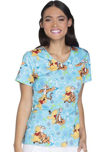 Winnie The Pooh/Tigger Women's Scrub Top | Scrubs,etc ...
