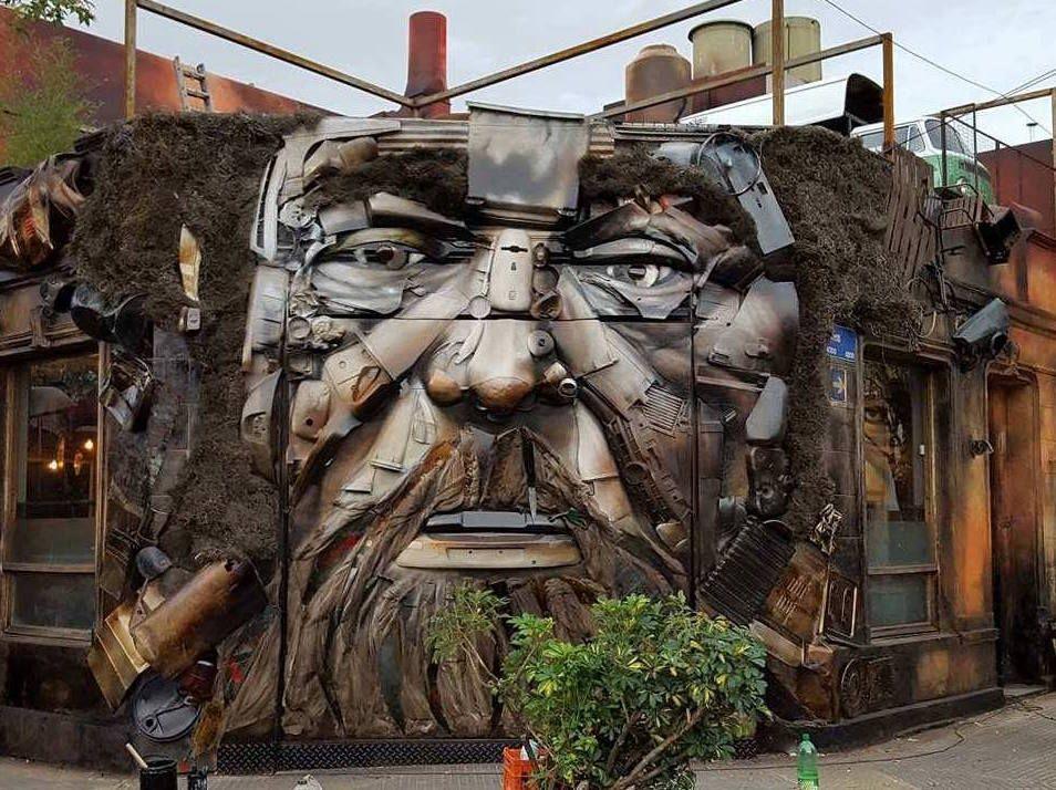 El Viejo Del Desarmadero Trash Gorriti Y Lavalleja Palermo Buenos Aires Mural Chatarra Reciclaje Desarmade Wall Street Art Street Art Urban Street Art