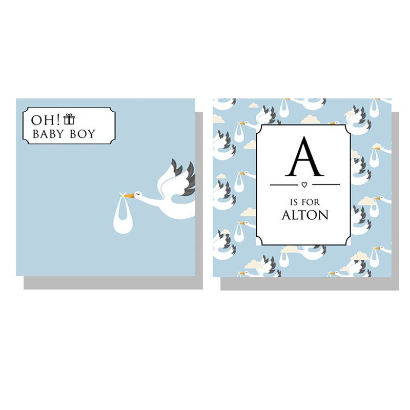 Oh! Baby Boy canvas SET of 2, new baby gift, baby born gift, wall ...