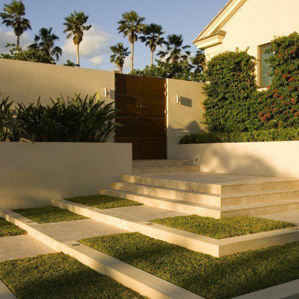Aménagement paysager moderne: 104 idées de jardin design | Front ...