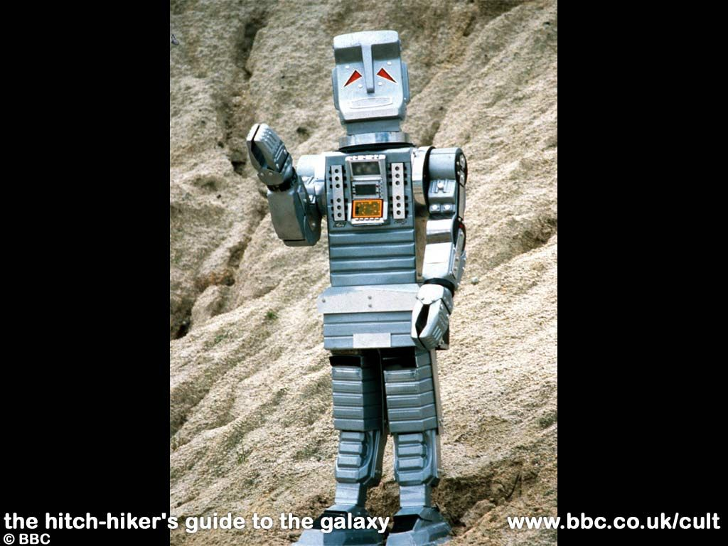 Marvin the Paranoid Android from The Hitchhiker's Guide to