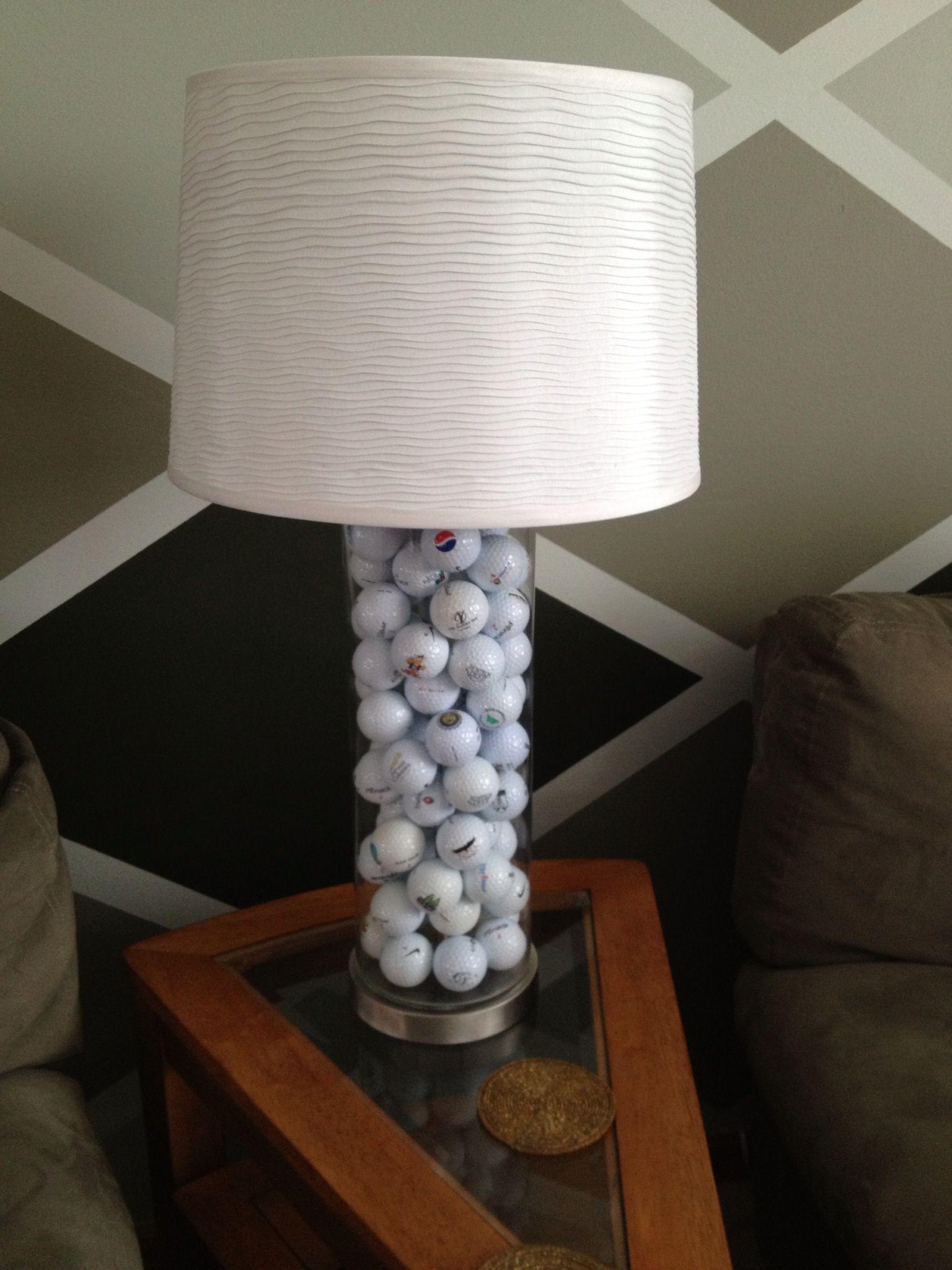 Logo Golf Ball Lamp Those 20 Years Of Saving Logo Balls Pays Off Ball Lamps Golf Decor Lamp