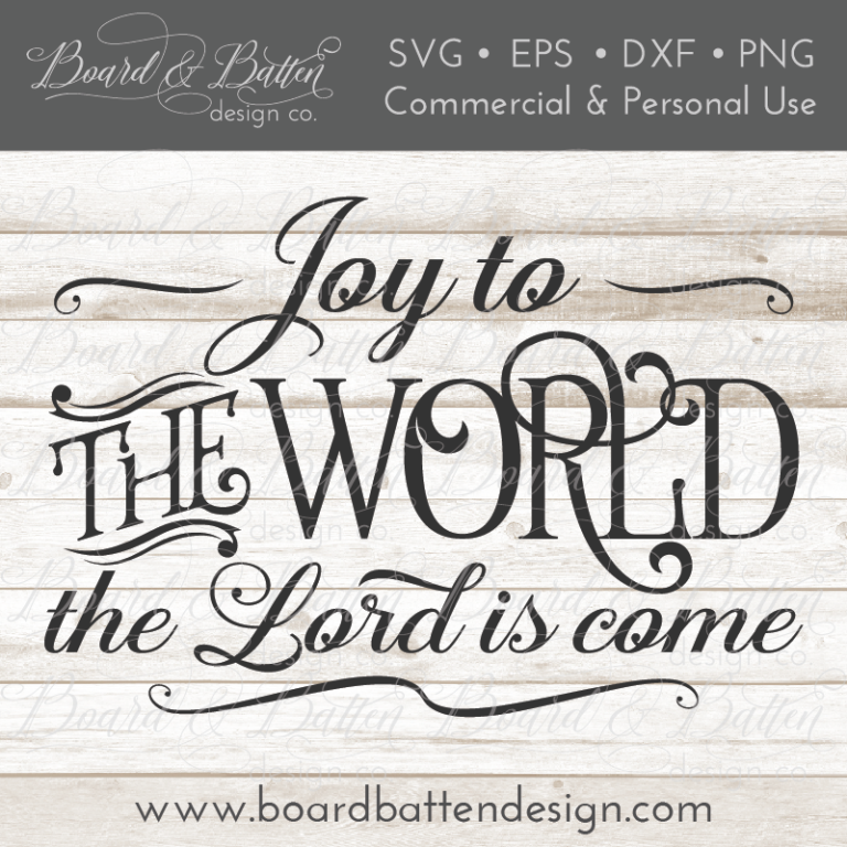 Download Joy To The World Christmas Song SVG File | Cricut, Svg ...