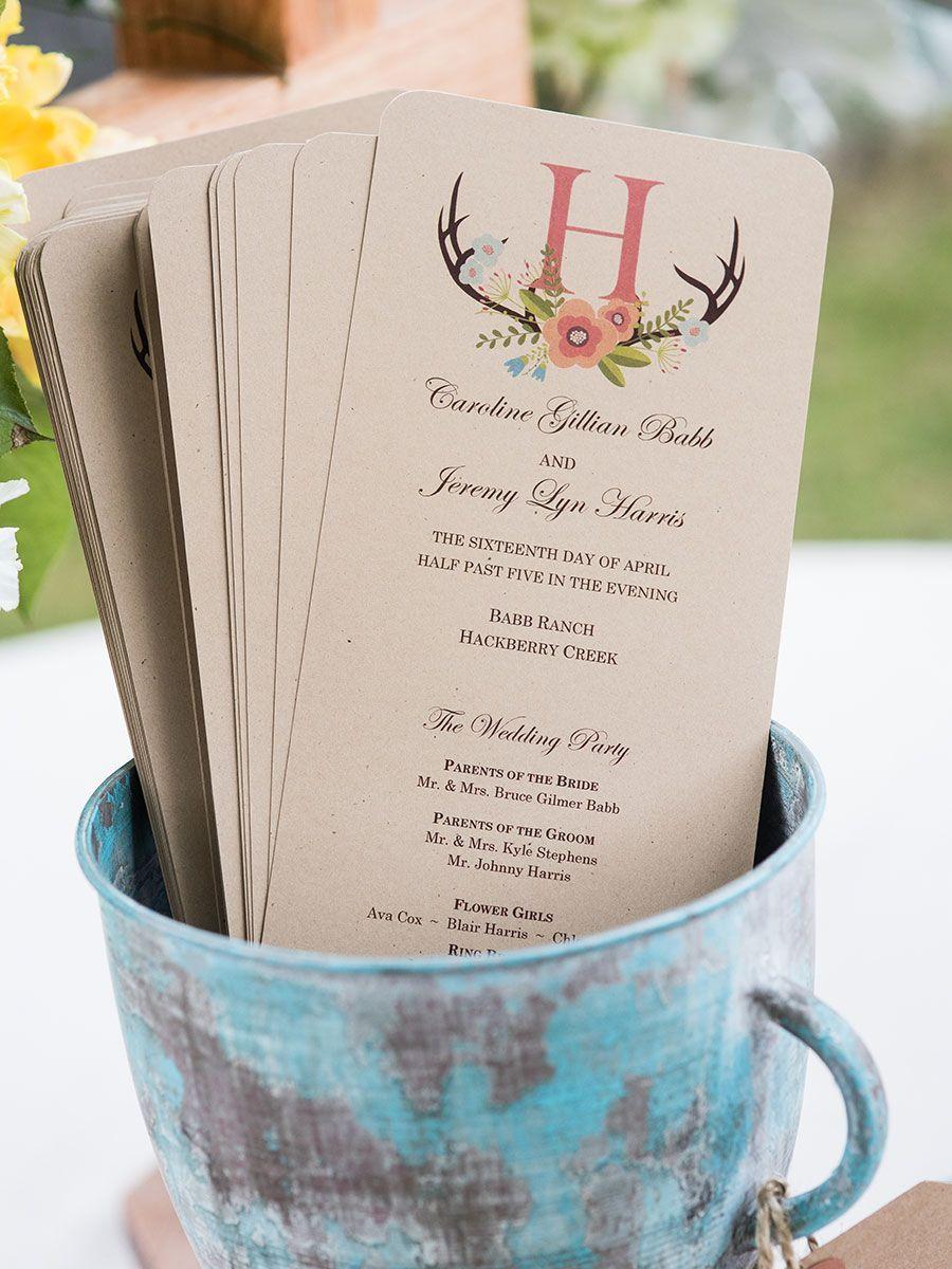 Programs with insignia | Wedding | Pinterest | Programming, Ceremony ...