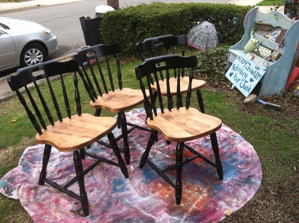 Delightful Refinished Antique Dining Chairs