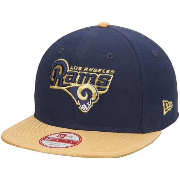 the best attitude b609d 12a70 Men s Los Angeles Rams New Era Navy Gold Original Fit 9FIFTY Snapback  Adjustable Hat, Your Price   29.99