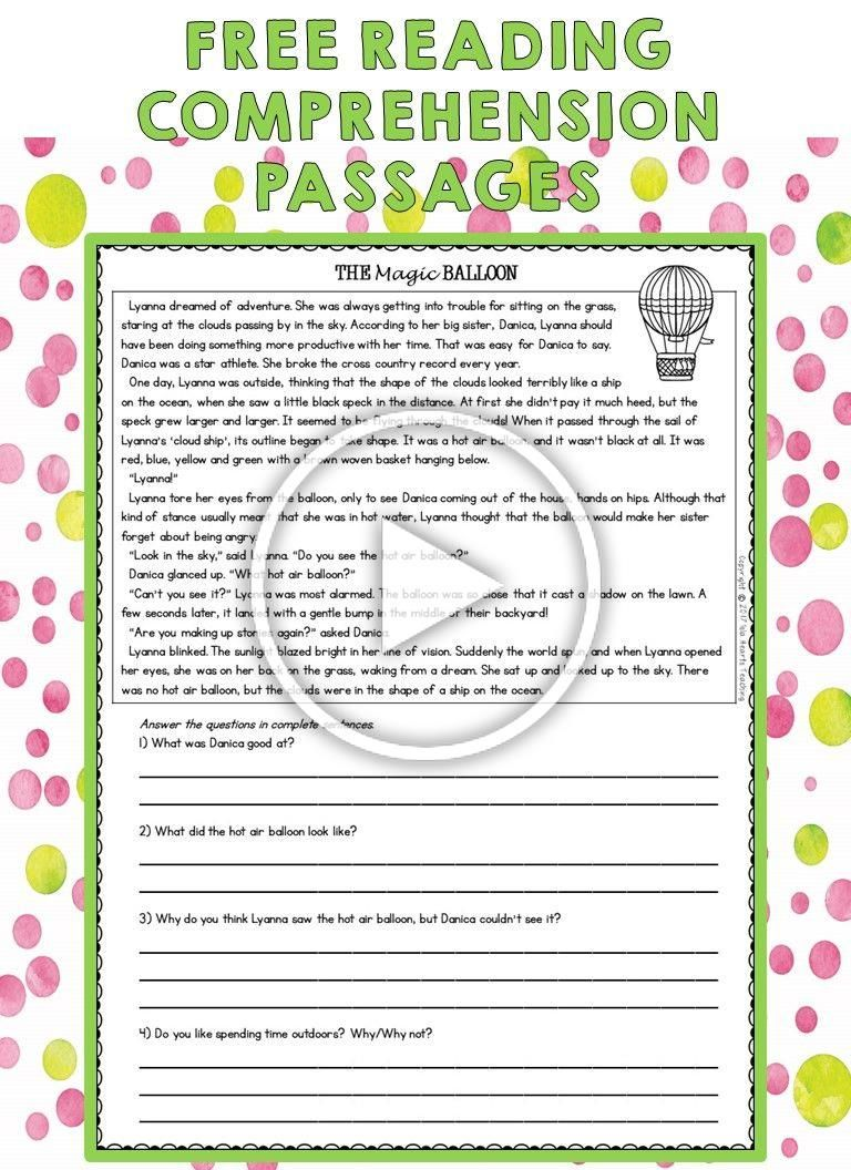 Free Reading Passages These Third Grade Reading Passages Are Perfect For Guided Independent Reading Lessons Third Grade Reading Passages Free Reading Passages [ 1056 x 768 Pixel ]