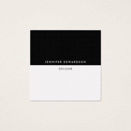 Modern Simple Minimalist Black White Professional Square Business Card Minimalist Offic Printing Business Cards Business Card Minimalist Square Business Card