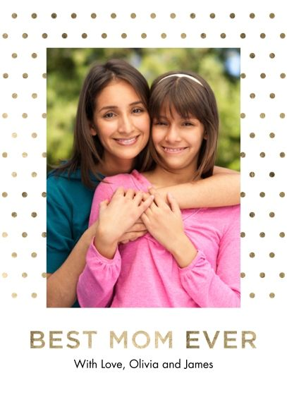 Personalized Mother's Day Cards 5x7 Folded Cards, Premium Cardstock 120lb, Card & Stationery - Mom's