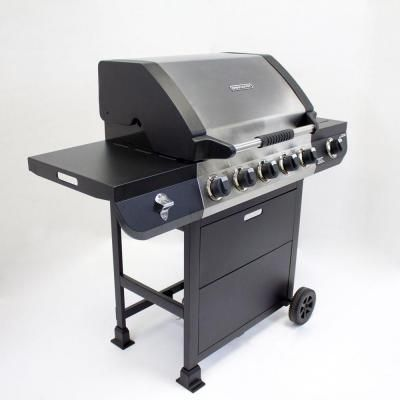 Brinkmann 5 Burner Propane Gas Grill With Side Burner 810 2512 S The Home Depot Gas Grill Propane Gas Grill Grilling