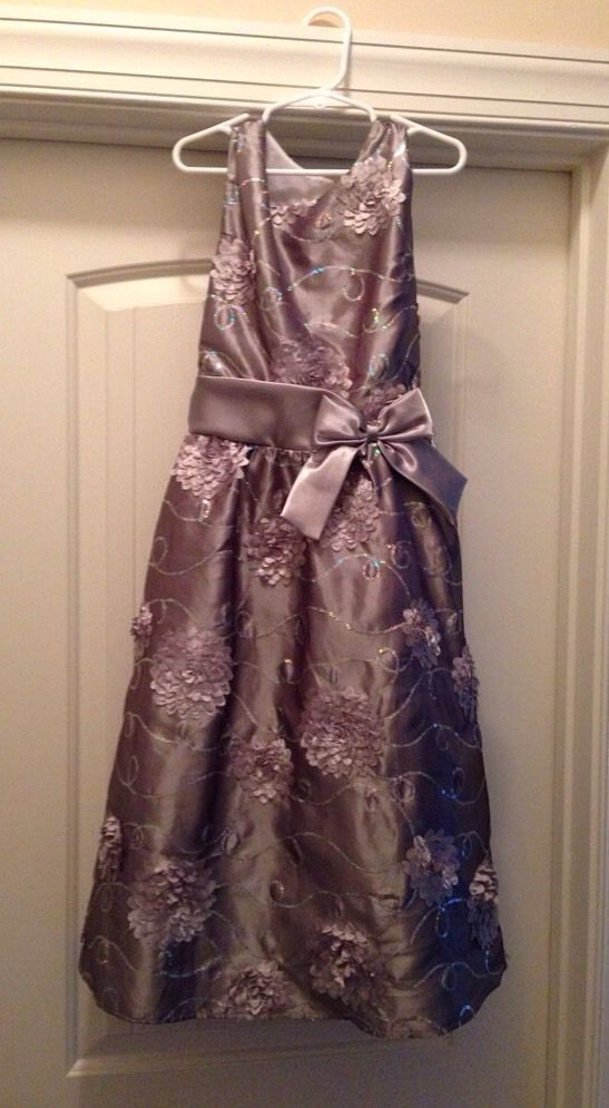 3fd15bab7 Girls Rare Editions Silver Holiday Fancy Party Christmas Dress Size ...