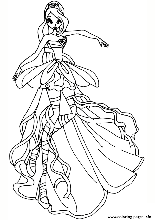 Print Bloom Harmonix Winx Club Coloring Pages Mermaid Coloring Pages Princess Coloring Pages Princess Coloring