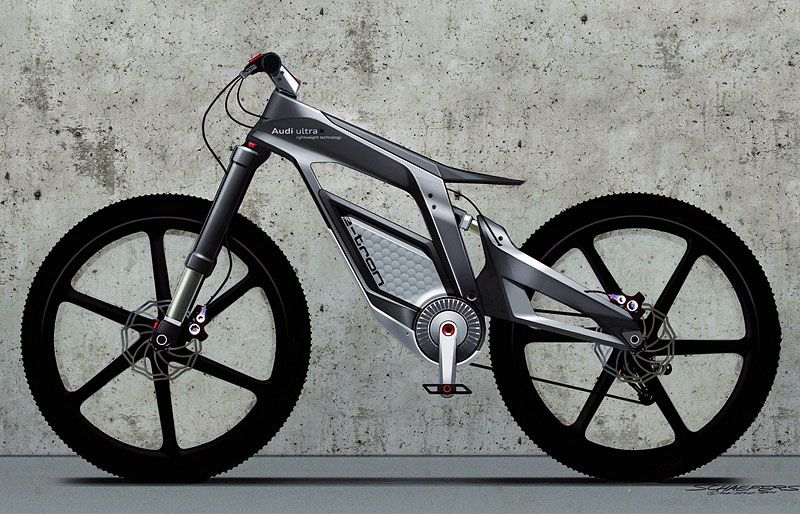 Audi-Bike | The new project is called E-Bike. Now, Audi debuted in a segment of a hybrid bike.