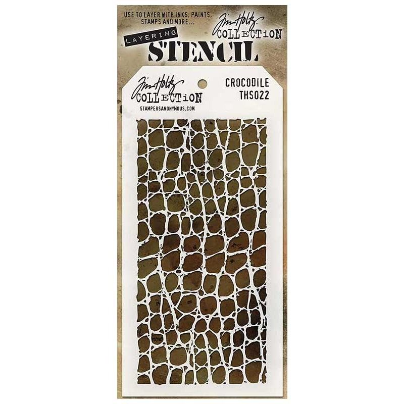 Tim Holtz Layering Stencil FLAMES Stencil ths091 Stampers Anonymous