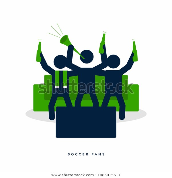 Soccer Football Fans Beer Bottle Cheer Stock Vector Royalty Free 1083015617