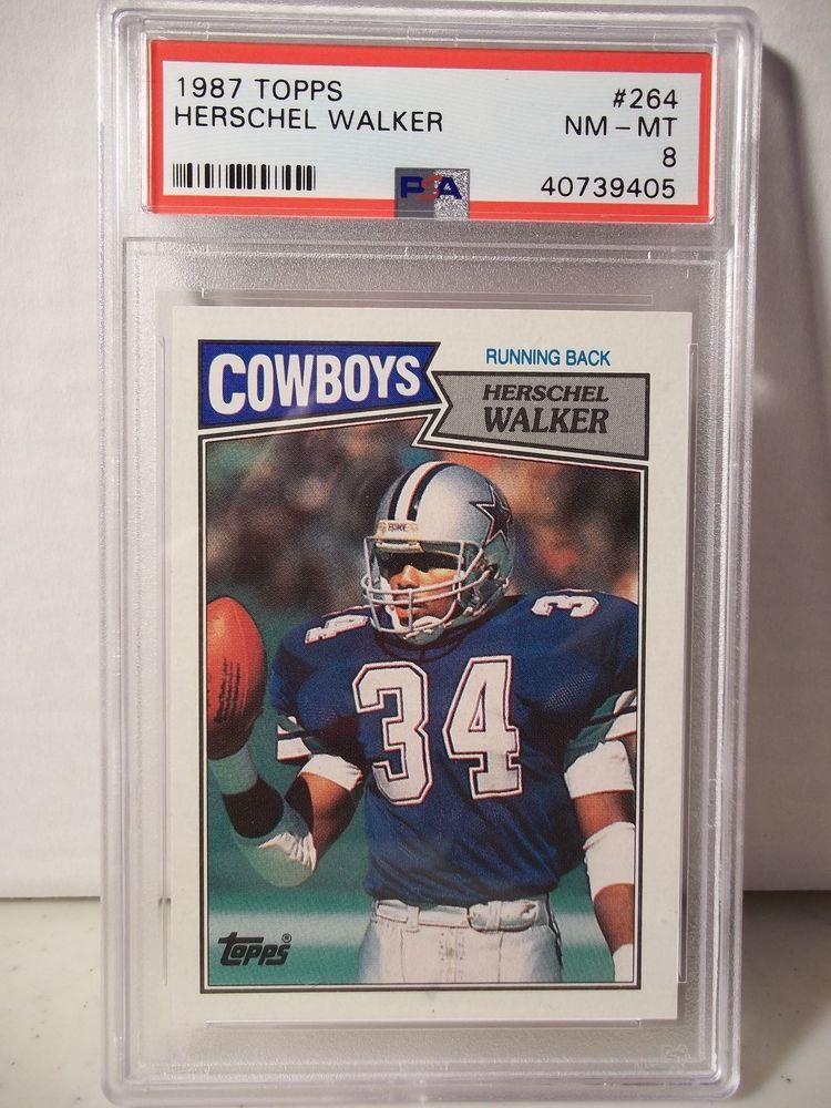 1987 Topps Herschel Walker RC PSA NMMT 8 Football Card