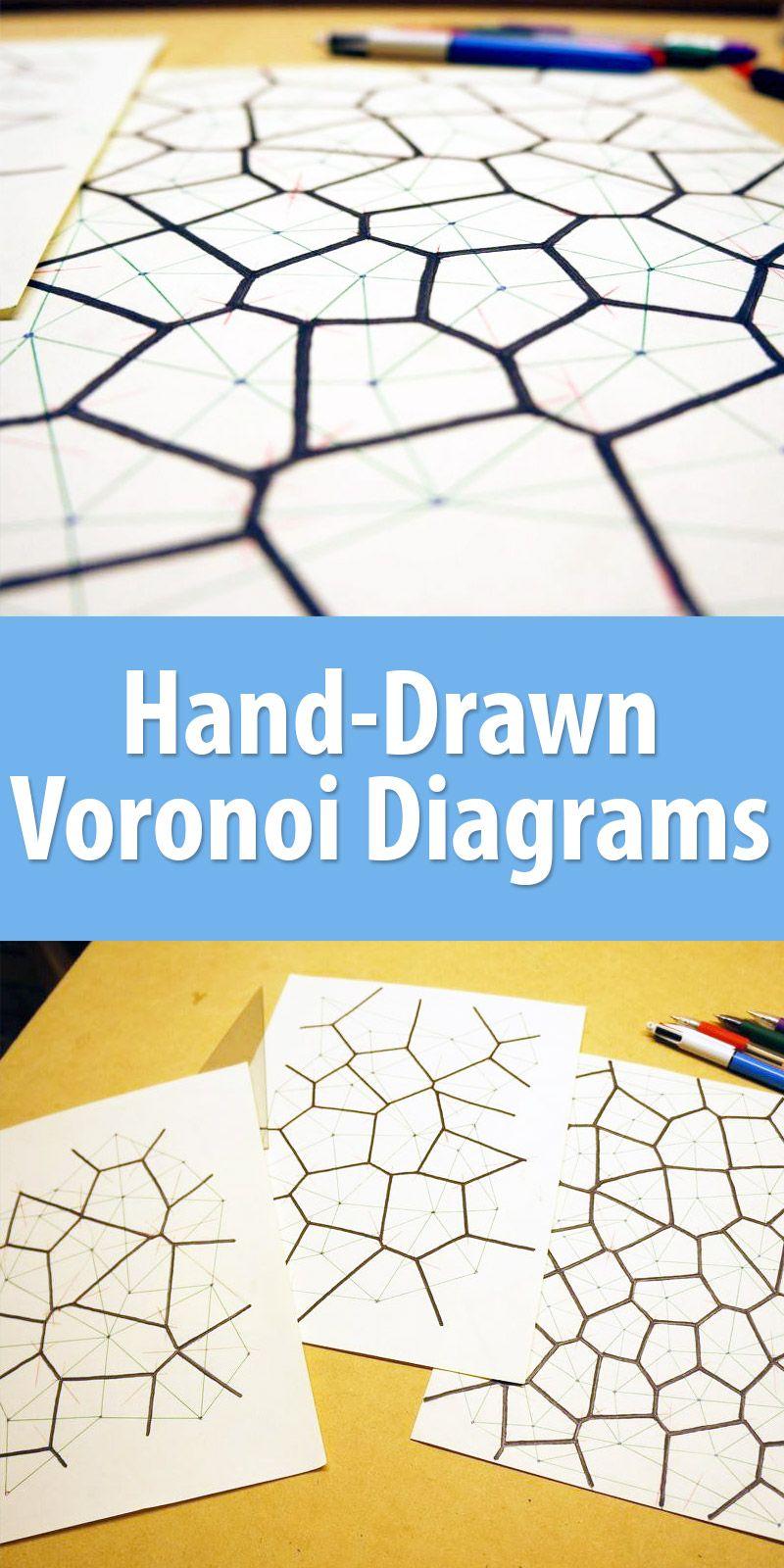 Hand-Drawn Voronoi Diagrams | Sharp pencils, Voronoi diagram and Sketchbooks