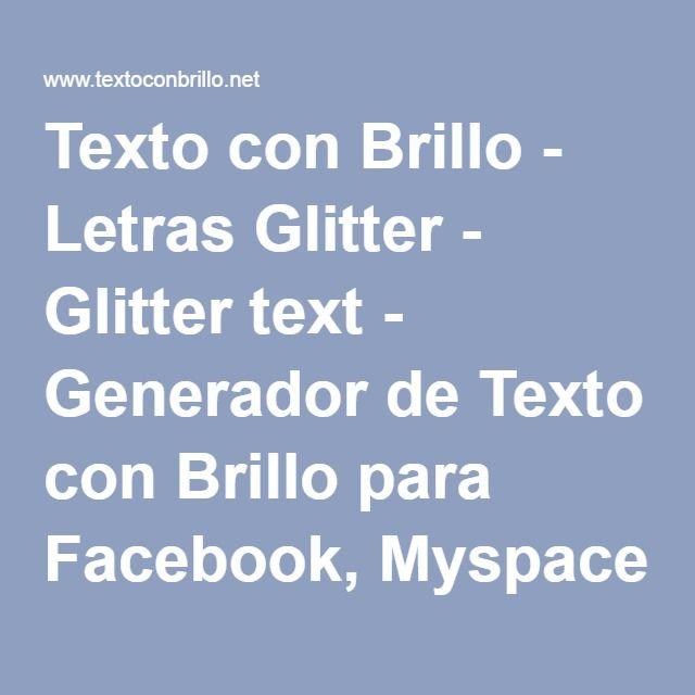 Texto Con Brillo Letras Glitter Glitter Text Generador De