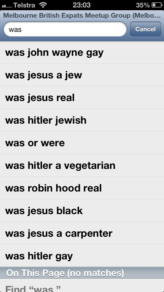 The wonders of googling 'was'