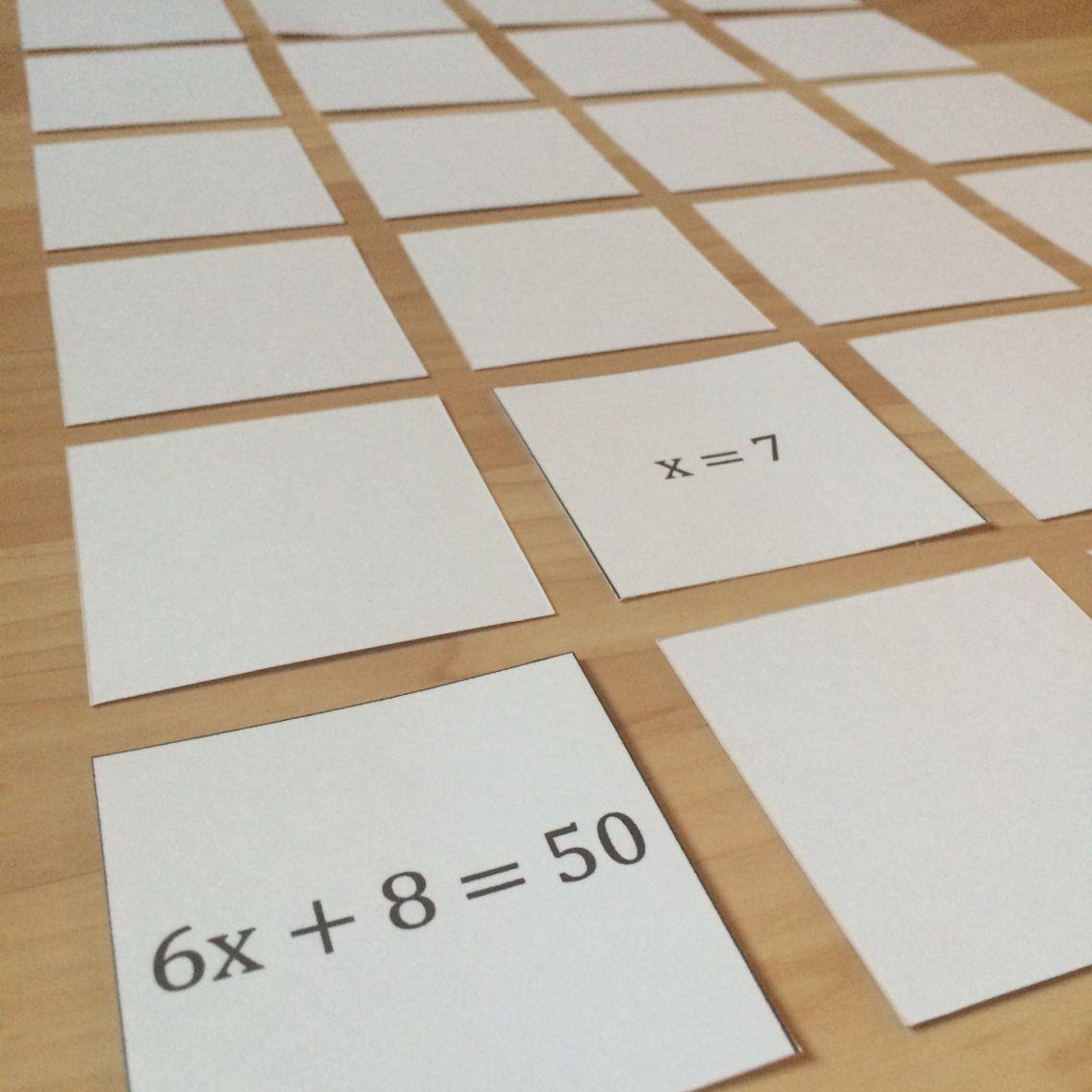 Equation Memory Two Step Equations