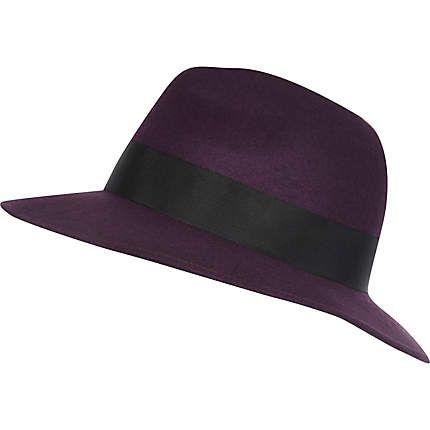 1cdc7cad4bb8c Dark purple fedora hat  22.00