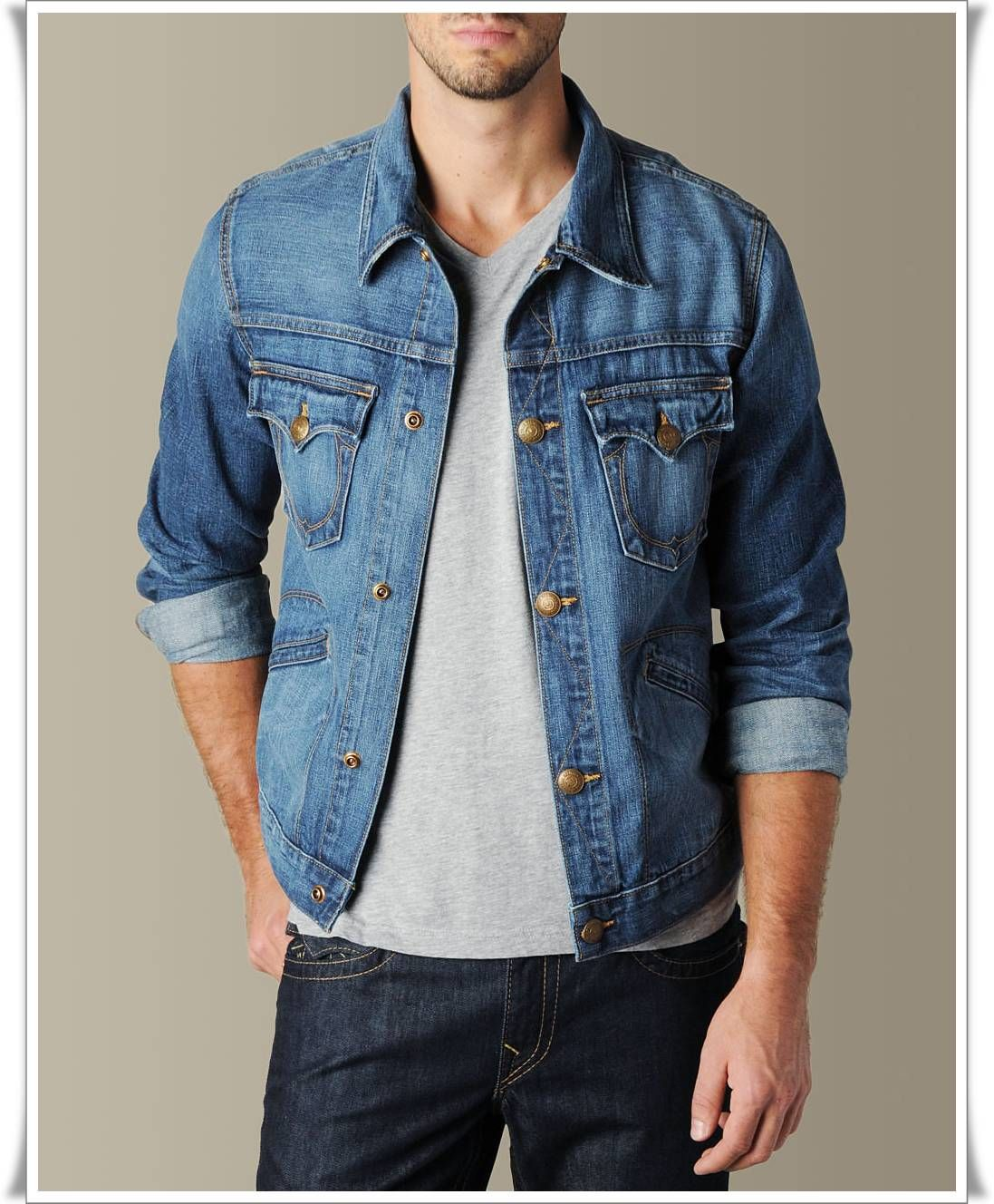 jean jacket mens - Google Search | The Denim Trucker Jacket ...