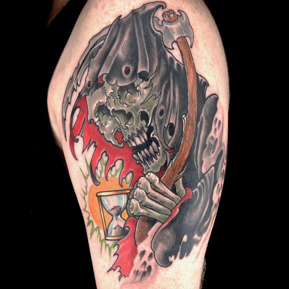grim reaper tattooerik siuda   grim reaper tattoos   pinterest